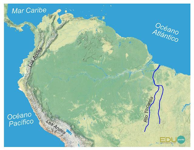 hidrografia, tocantis, america del sur, sudamerica ,rio, cuenca