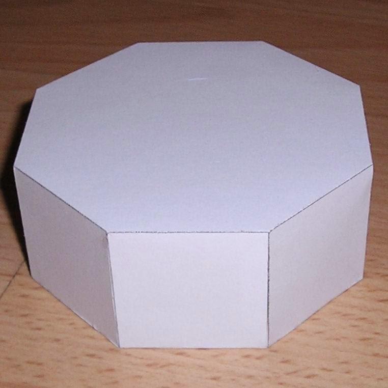Molde de pirâmide octogonal para imprimir + Molde de ...