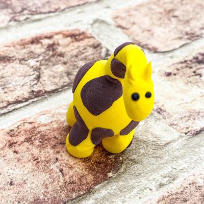 Giraffe made of clay