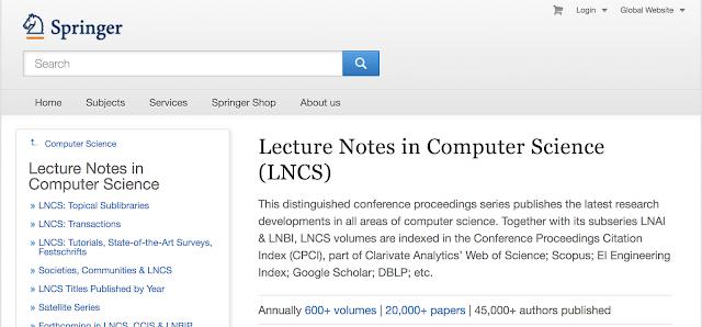 Springer LNCS
