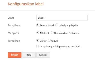 Cara membuat label cloud keren di blogger