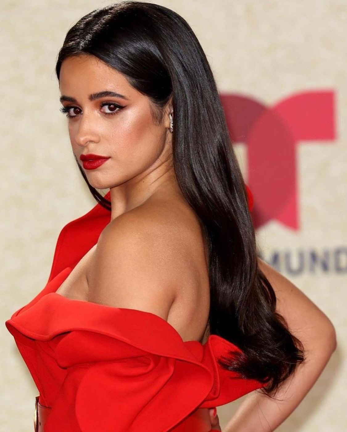 Camila Cabello smoulders in red at the 2021 Billboard Latin Music Awards