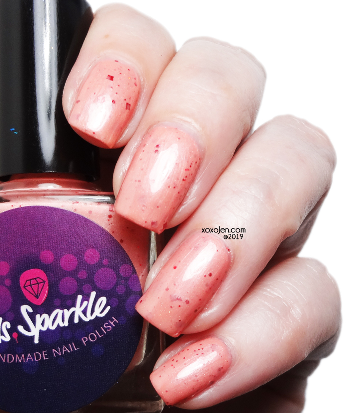 xoxoJen's swatch of Ms Sparkle Peaches 'n Cream Barbie