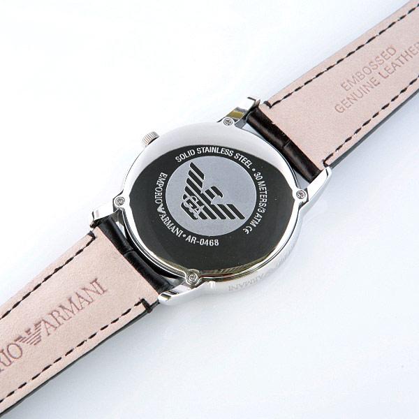 e2f4ca430ff Emporio Armani Classic Leather Round Watch AR0468 ~ secretbargains1