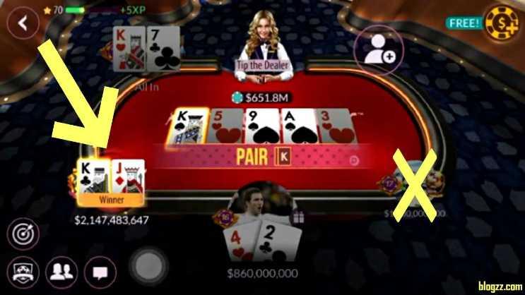 Rastgele chip kodu girmek, Zynga Poker taktikleri arasındaki en iyi yöntemlerden biridir.