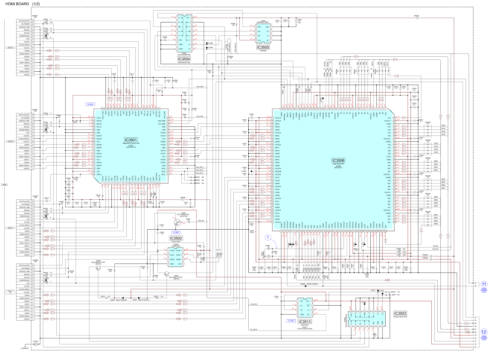 Sony STR-DG820 – AV receiver - schematic | Electrotechnician