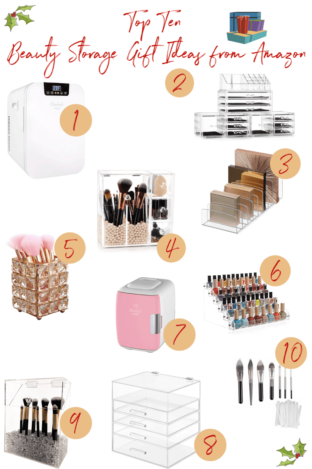 Top Ten Beauty Storage Gift Ideas from Amazon