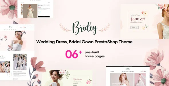 Best Wedding Dress, Bridal Gown PrestaShop Theme