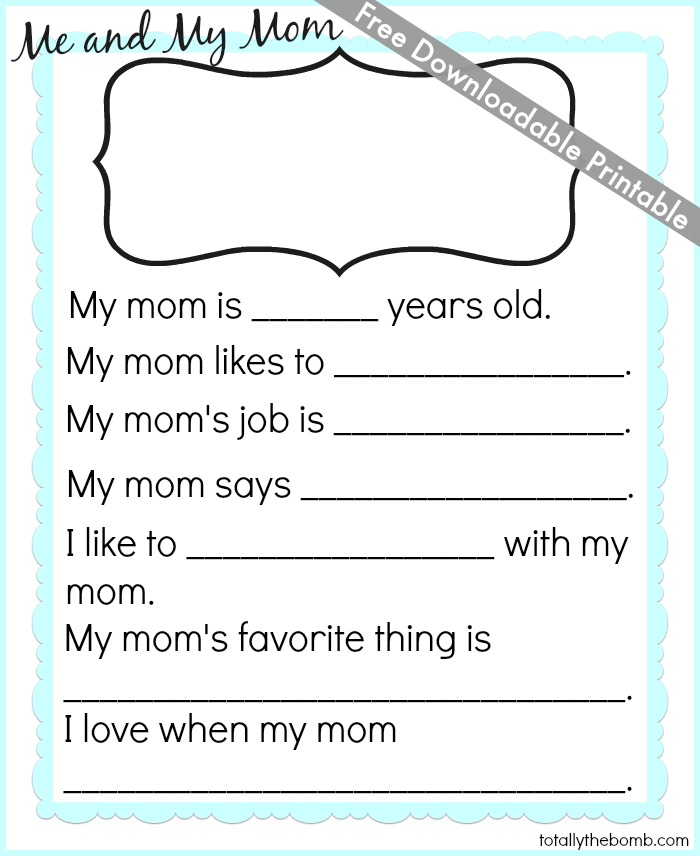 Mother's Day Crafts, Cards, Activities, and Worksheets ...