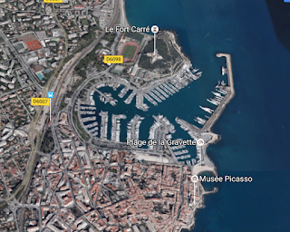 Antibes old town and harbor image