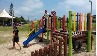 Ilha executa serviços de recuperação e reforma de playgrounds e academias do idoso