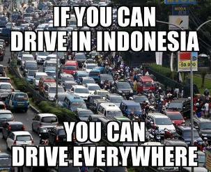 gambar dp bbm macet di jakarta indonesia