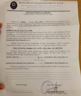 Diduga Melenceng, Kapolres Kota Bogor Di Gugat Praperadilan