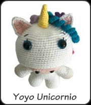 Amigurumi yoyo unicornio