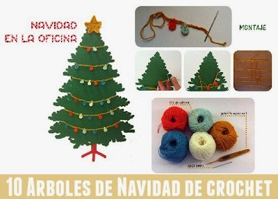 10 Arboles de Navidad en Crochet