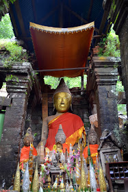 Autel à Wat Phou, Pakse (Laos)