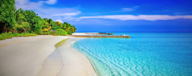 Beautiful  Beach Paradise Island HD Wallpaper