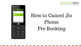 How to Cancel Jio Phone Pre Booking