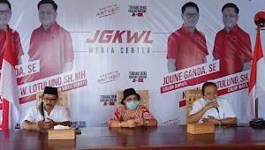PILBUP MINUT: Tim Relawan Deklarasi Menangkan JG-KWL
