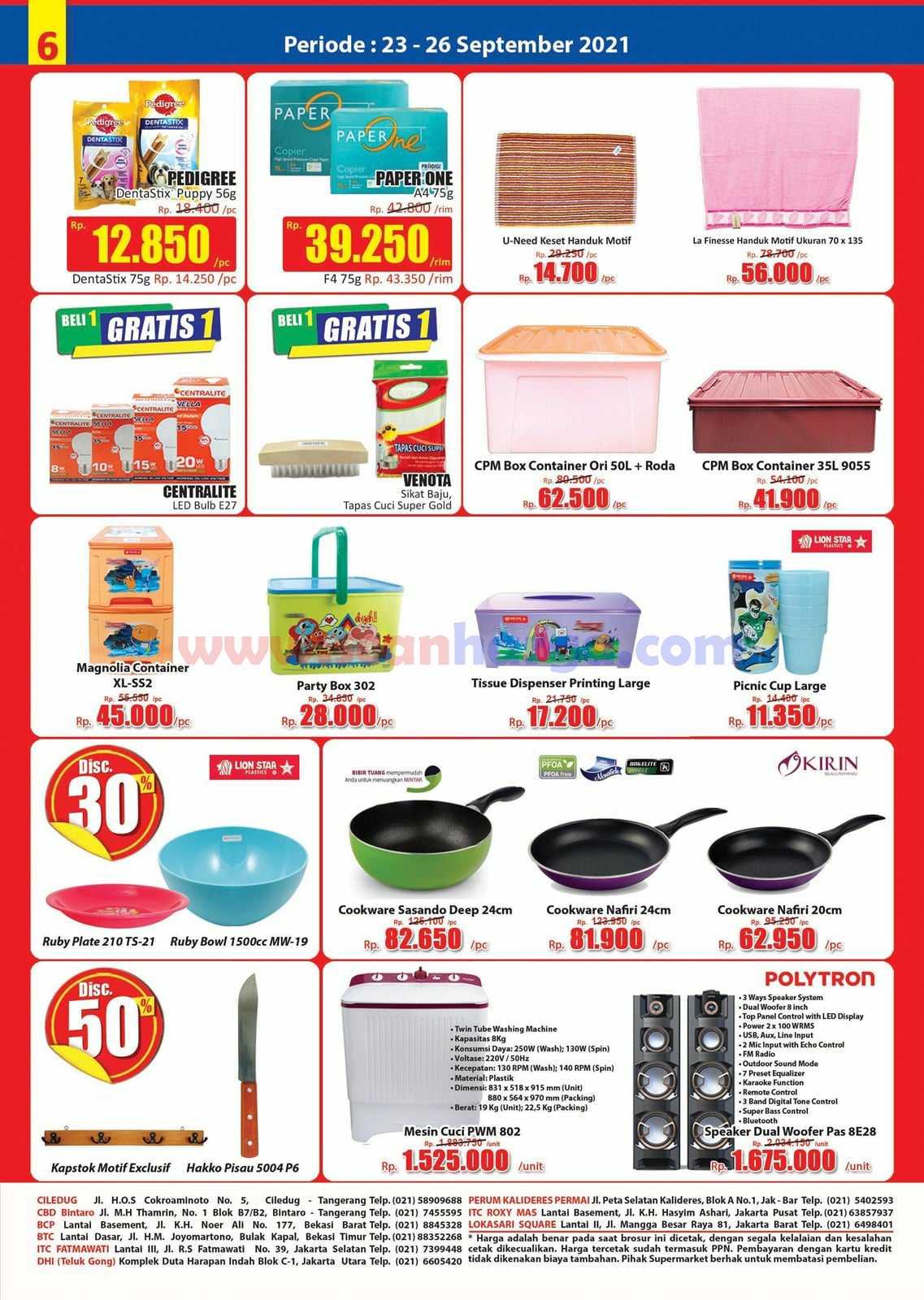 Katalog Promo JSM Hari Hari Swalayan Weekend 23 - 26 September 2021 6
