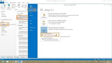 Hướng dẫn thu hồi Email gửi nhầm trong Outlook