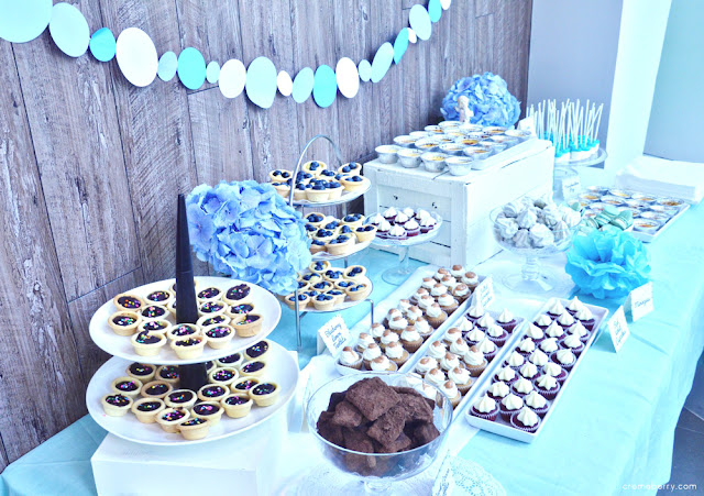Blue Baby Shower Dessert Table Creme Berry S Blog