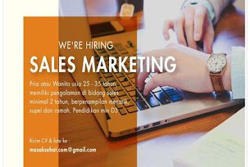 Lowongan Kerja Bandung Sales Marketing MasakSehat.Com