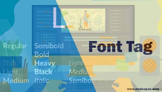 What is Font Tag in html