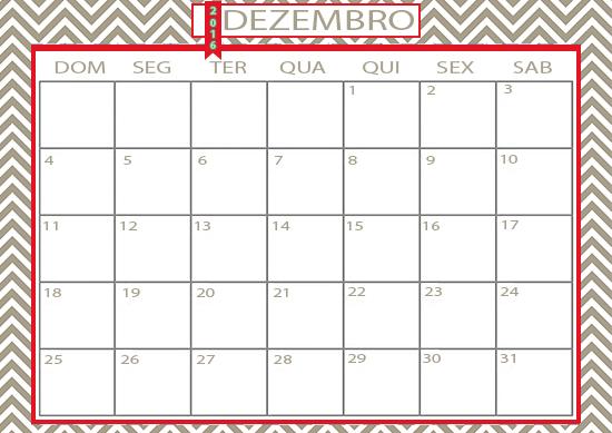 calendário dezembro, dezembro 2016, folhinha dezembro, a casa eh sua, acasaehsua