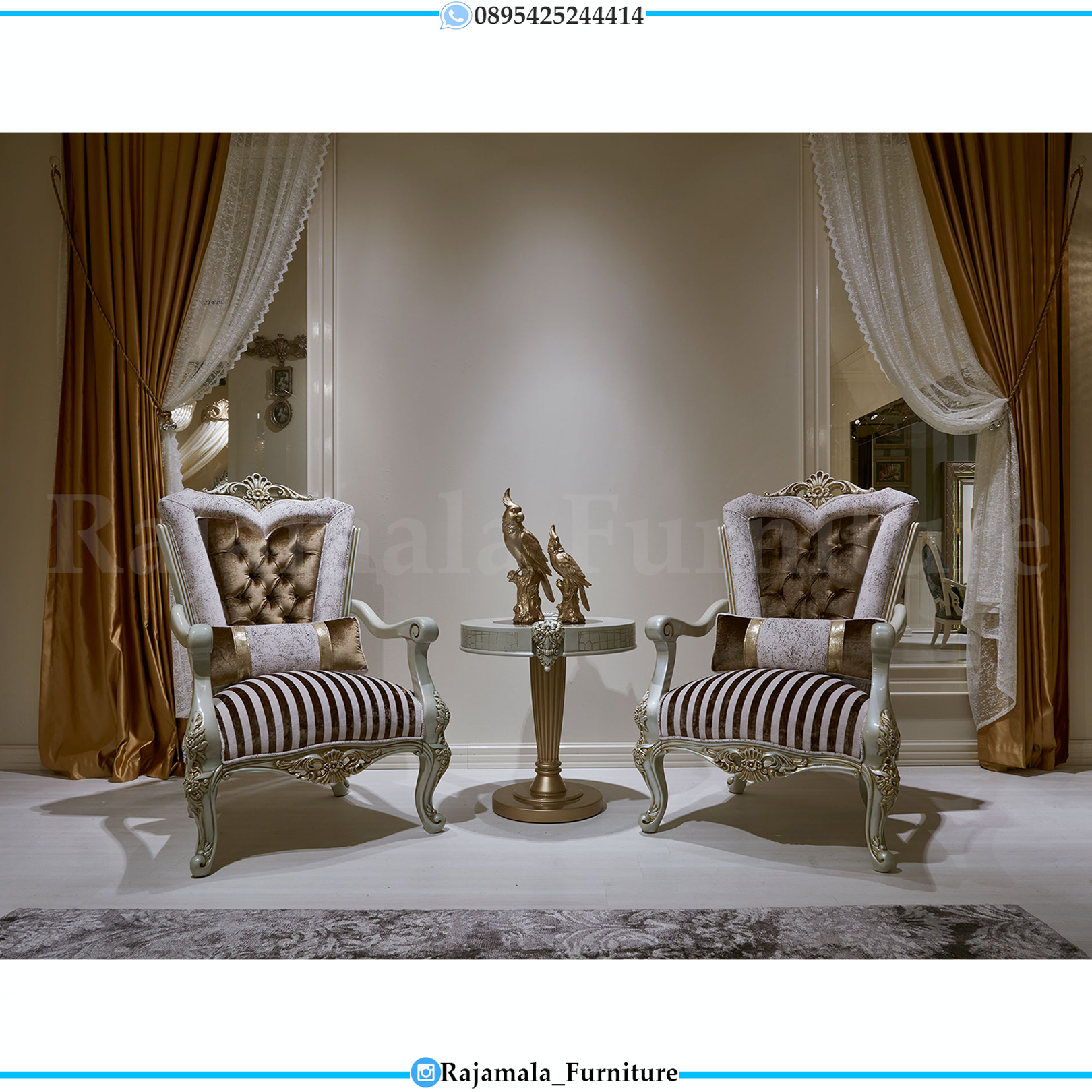 Sofa Tamu Mewah Ukiran Jepara Luxury Furniture Indonesia RM-0142