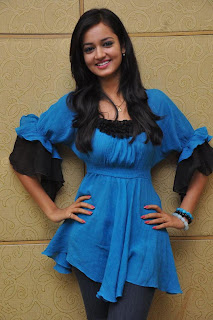 Shanvi Latest Picture Stills in Jeans at Lovely Movie Success Press Meet