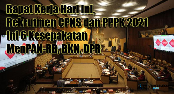 Rapat Kerja Hari Ini, Rekrutmen CPNS dan PPPK 2021: Ini 6 Kesepakatan MenPAN-RB, BKN, DPR