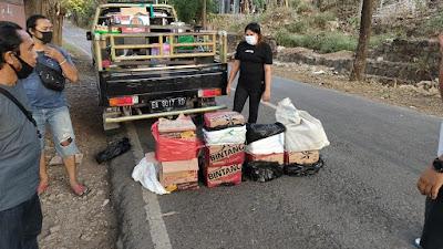 Ratusan Botol Miras diamankan Polisi dari Seorang IRT di Bima
