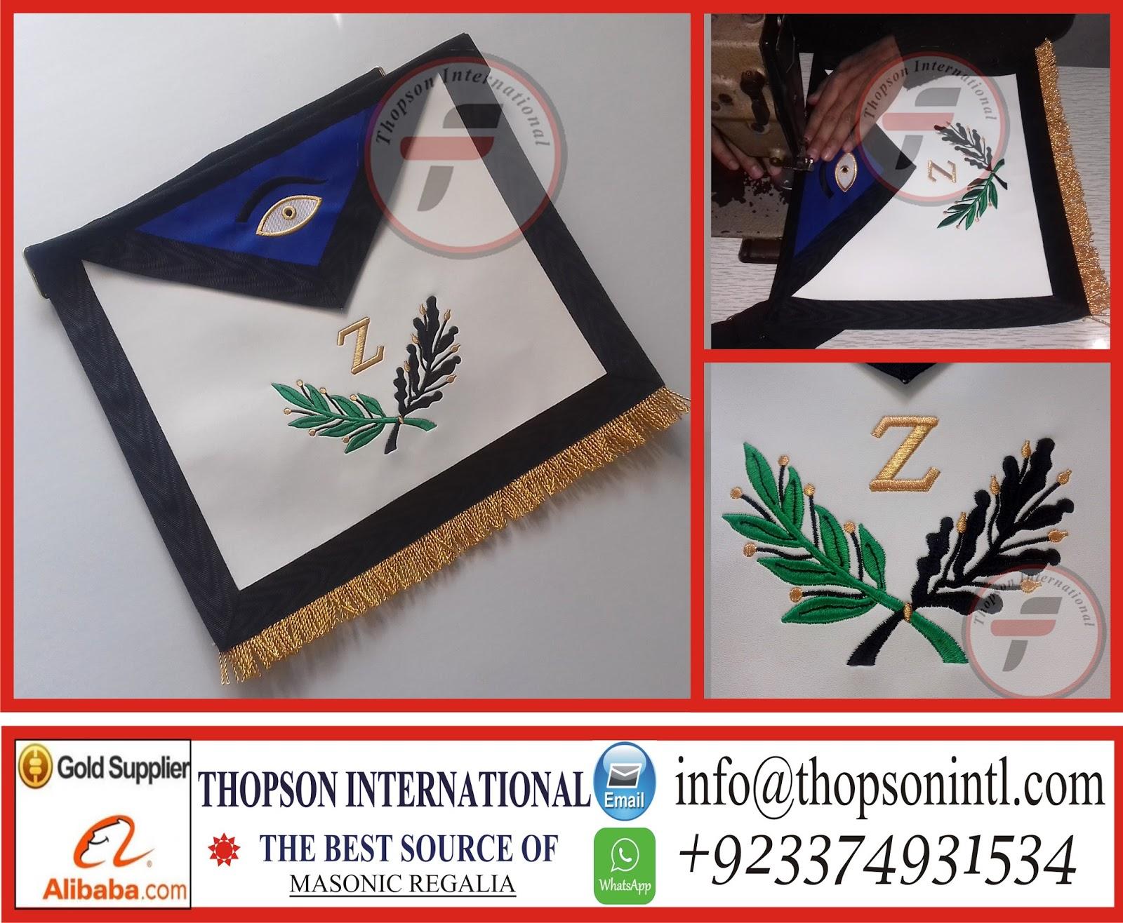 Masonic Regalia thopson: Masonic AASR 4 degree Apron & collar set