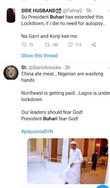President of nigeria announces corona virus lockdown extension in latest news speech today