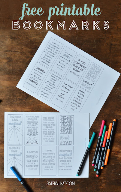 free reading book marks summer printable