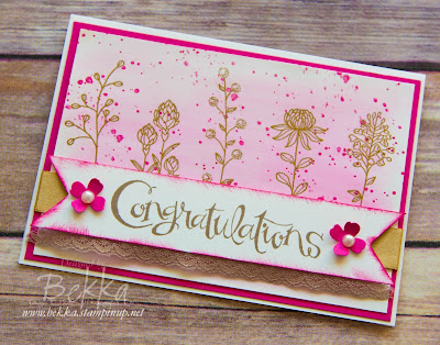 Flowering Fields Congratulations Card by Stampin' Up! UK Demonstrator Bekka