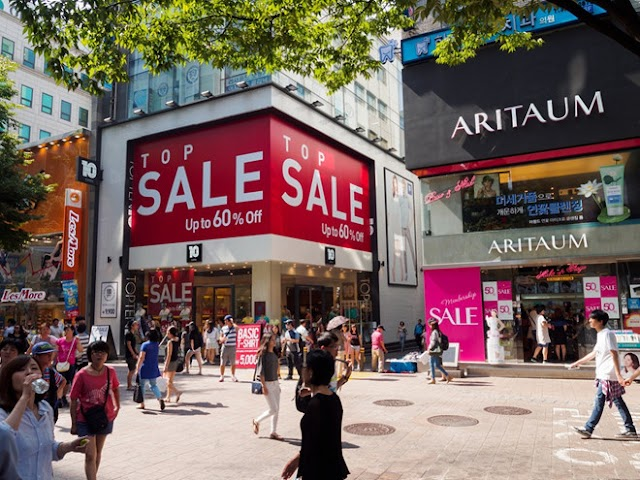 What is the Korean shopping paradise at the end of the year offering to visitors?