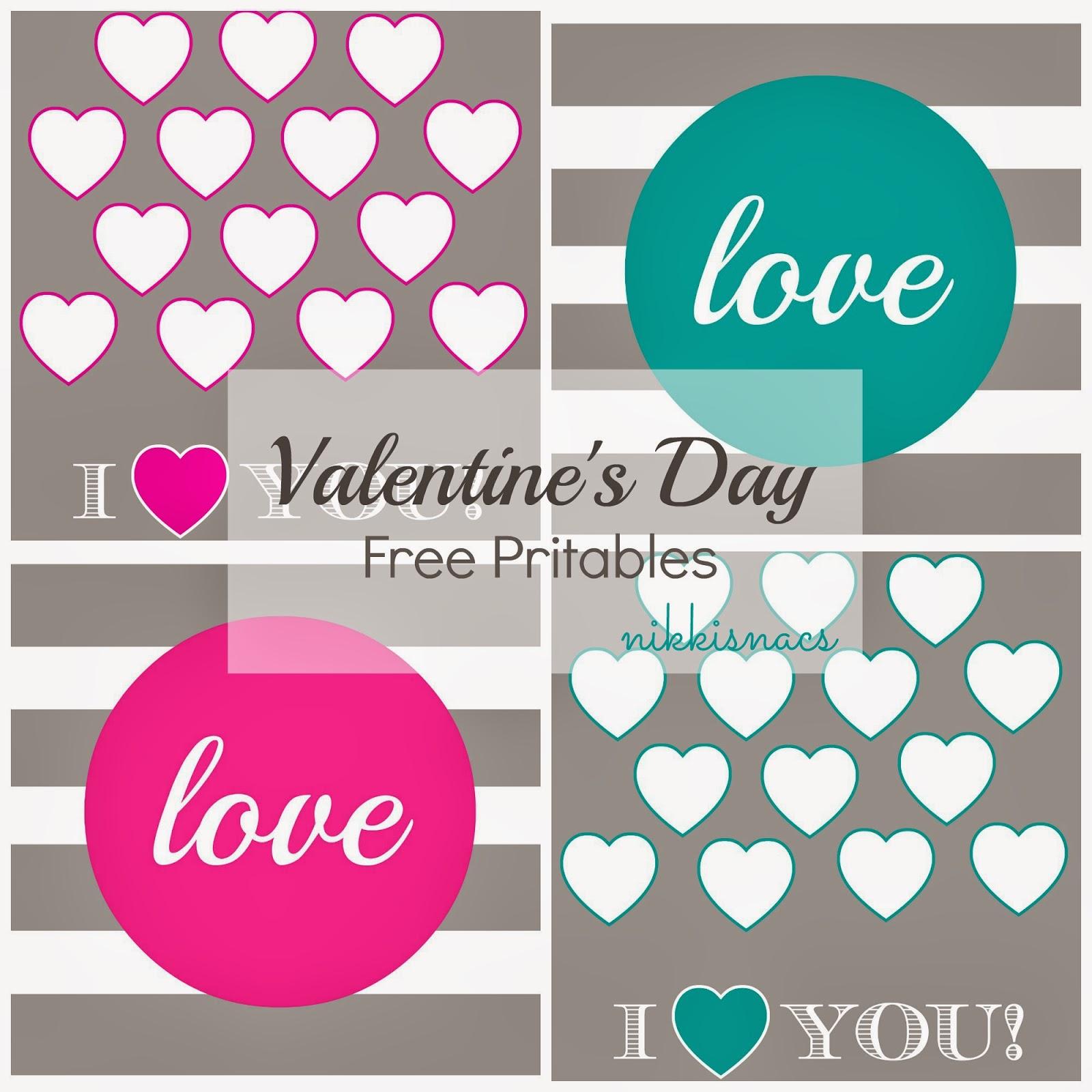 Nikkis Nacs Valentine S Day Printables