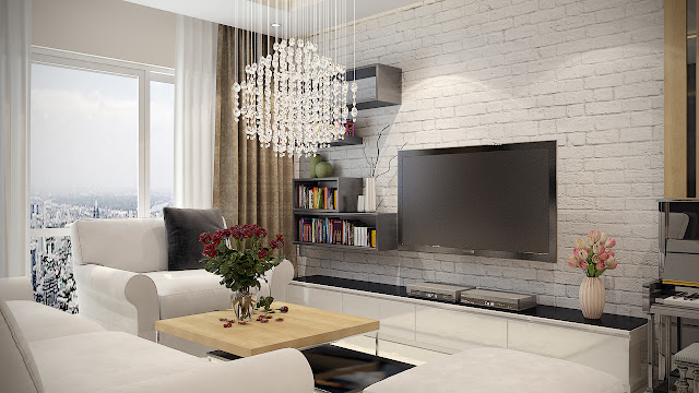 Thiết kế phòng khách dự án Gemek Premium