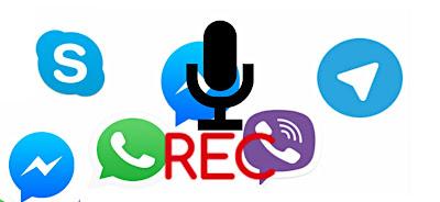 كيفية تسجيل المكالمات في ماسنجر Messenger و سكايب Skype و تطبيق تانجو Tango  واتساب - WhatsApp و فايبر viber