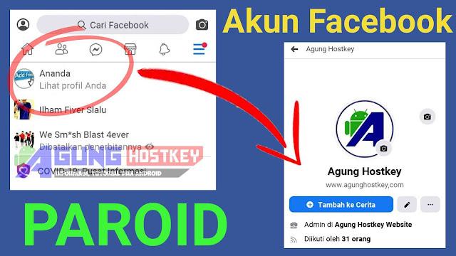 cara membuat akun facebook paroid error, nyasar, halaman, fanspage, akun fb paroid, akun fb paroid error, paranoid error, akun fb nyasar