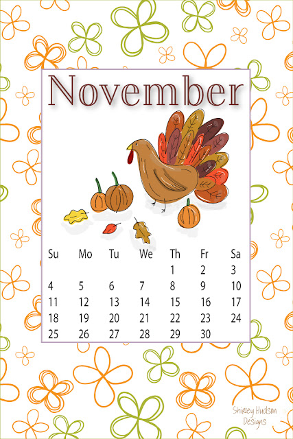 Happy November... Free desktop calendar