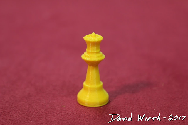 3d print chess piece, custom