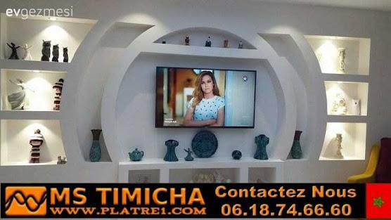 Décoration en plâtre pour TV Superbes décorations avec une touche moderne
