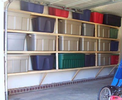 Garage storing – shelves