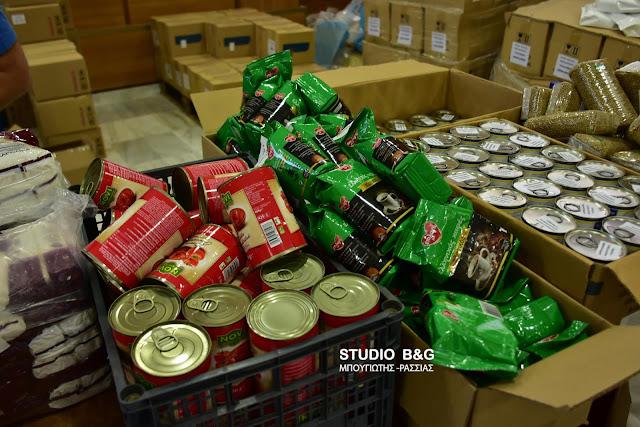 Διανομή τροφίμων και ειδών πρώτης ανάγκης σε δικαιούχους για δυο μέρες στο Ναύπλιο