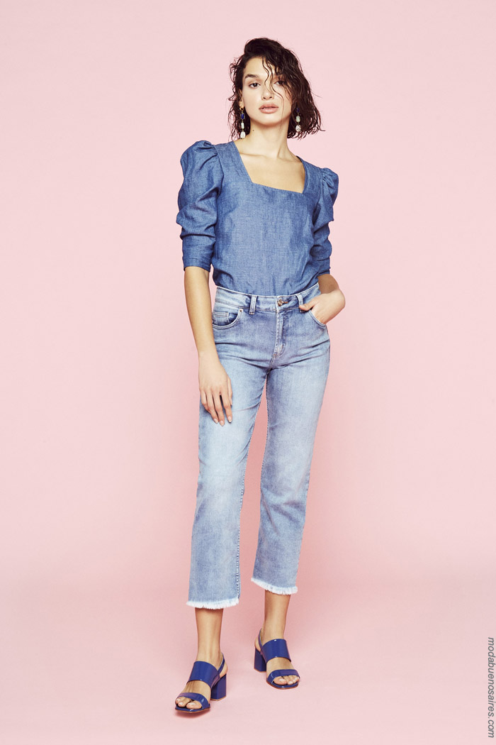 Moda denim primavera verano 2020. Moda jeans 2020.