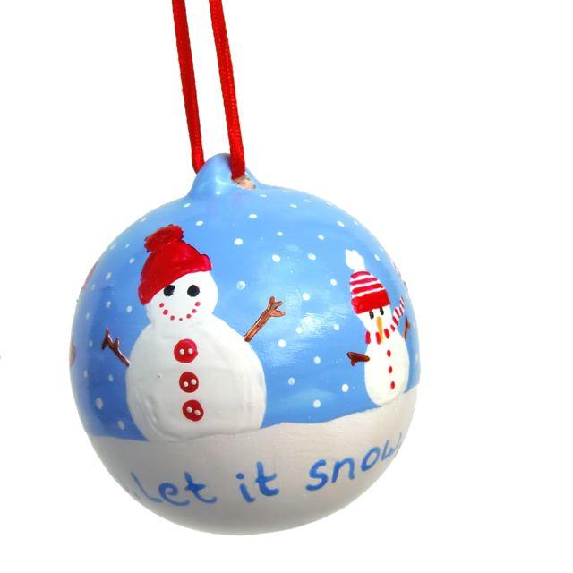 Snowman Bauble  sc 1 st  Free Spirit Designs & Free Spirit Designs: Hand Painted Christmas Baubles For Handmade Monday