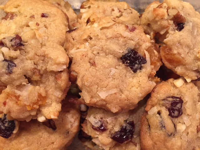 Mixed Fruit and Nut Cookies - adapted from Martha Stewart